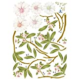 Reusable Decoration Wall Sticker Decal - Blossoming Flowers