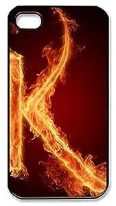 iphone 5c Case Fire Letter K PC Custom iphone 5c Case Cover Black