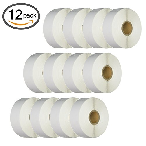 [12 Rolls, 4200 Labels] Dymo Compatible 30252 Shipping Labels 1-1/8 x 3-1/2 Inches. For Dymo LabelWriter 450, 450 Turbo, 450 Twin Turbo, 450 Duo, 4XL, SE450, Desktop Mailing Solution Printer enKo Products