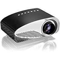 GP8S Portable Mini HD Home Theater Dual HDMI Interfaces Fashion LED Projector Easy Projection for Your
