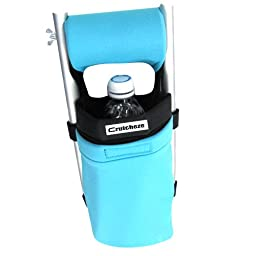 Crutcheze Turquoise Crutch Bag, Pouch, Pocket, Tote Washable Designer Fashion Orthopedic Products Accessories