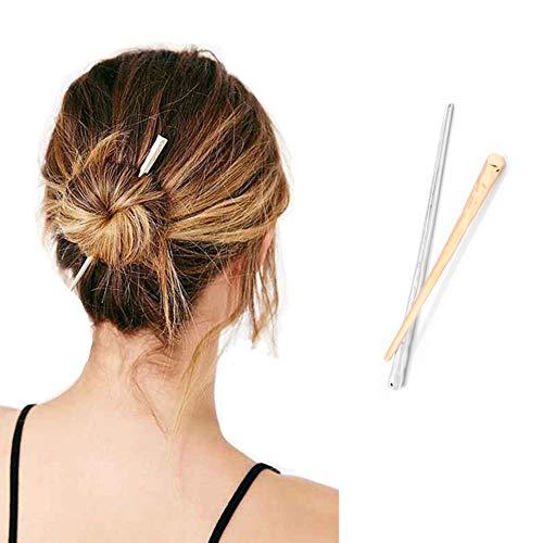 2 PCS Women Hair Chopsticks Hair Sticks Hair Pin Vintage Hair Sticks for Buns Chignon Pin Hair Diy Accessory