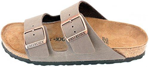 Birkenstock Arizona Mocha Birko-Flor 'Narrow Fit' Women's Sandals (9-9.5 US Women - 40 N EU) by Birkenstock (Image #3)