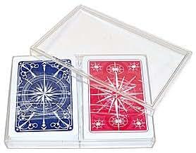 Trademark Poker Gemaco 100% Plastic Star Standard Poker 2 Deck Setup Playing Cards (Multi)