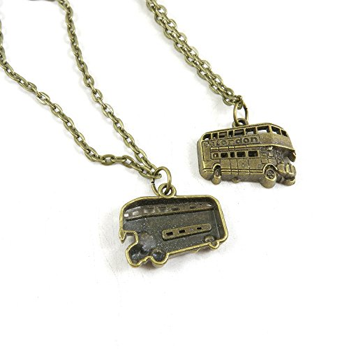 20 Pieces Antique Bronze Fashion Jewelry Making Charms Necklace Costume Sweater Long Chain Pendant 4-XLA3811 London Bus (20's Costumes London)
