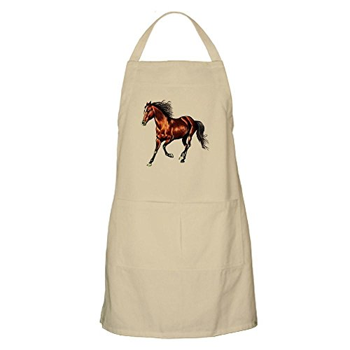 Apron Horse (CafePress Cantering Bay Horse Kitchen Apron with Pockets, Grilling Apron, Baking Apron)