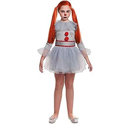 Disfraz Payasa Sádica Gris Niña (7-9 años) Halloween (+ Tallas)