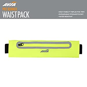 Avia Water-Resistant Waistpack w/ Expandable Zipper Pouch - Pink