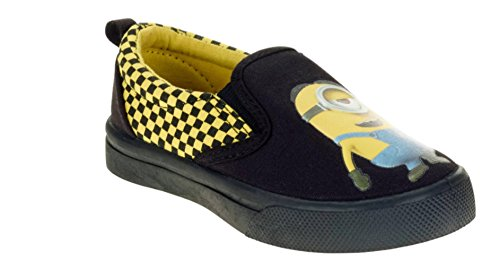 Despicable Me Minions Toddler Boys Checker Slip On Shoe (Minion Shoes For Toddlers)