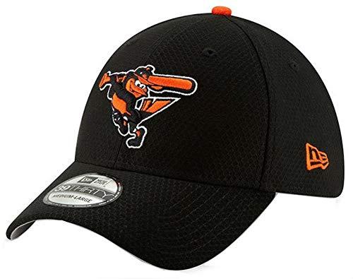 timore Orioles Bat Practice Hat Cap 39Thirty 3930 BP (S/M) Black ()