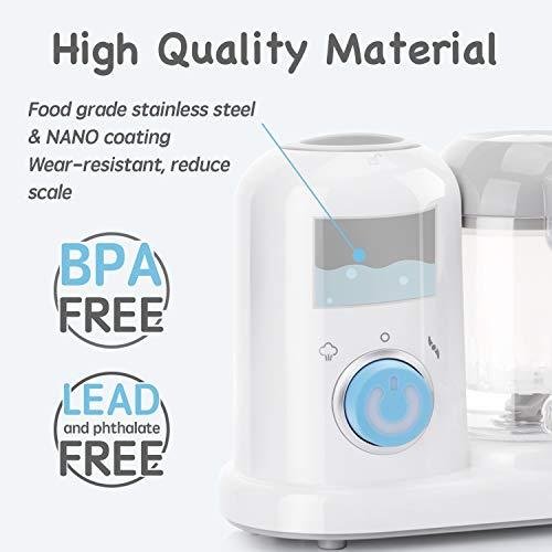 415gpPqPMuL - QOOC 4-in-1 Mini Baby Food Maker