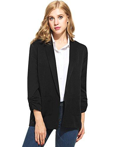 ANGVNS Womens Blazer Sleeve Jackets