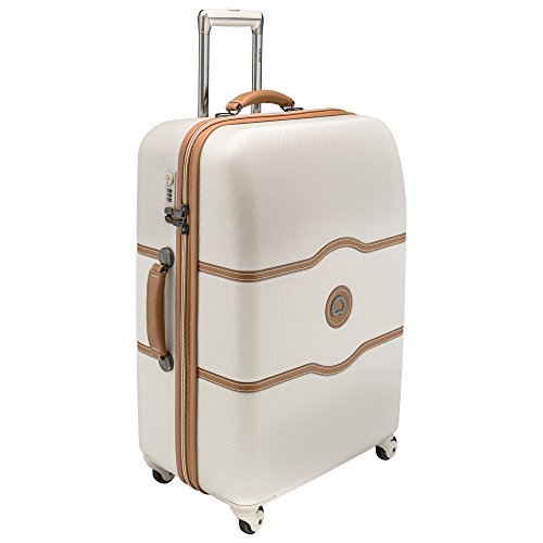 delsey-luggage-chatelet-24-inch-spinner-trolley-one-size-cream-tan