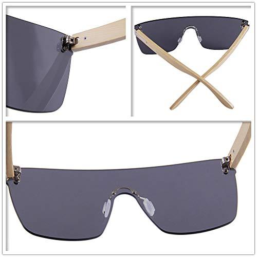 Peggy Gu Main One Fashion Fait Lunettes de Bambou Coloré Protection C1 des Piece C6 Soleil Style Hommes Femmes Shades Lentille Couleur de UV Protection pour Yeux rrwAqax