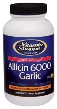 Vitamin Shoppe Allicin 6000 Garlic 650mg, 300 Caplets by Vitamin Shoppe by Vitamin Shoppe (Image #1)