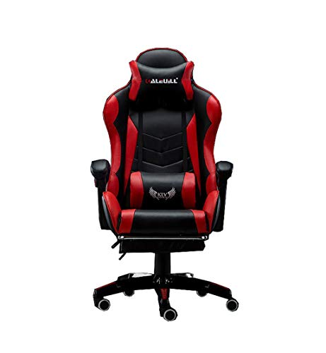 Red Comfort Executive Rotary Game Chair PC Chair Office Chair Computer Chair Armchair Adjustable Height