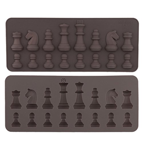 International Chess Silicone Mold Fondant Cupcake Toppers Cake Decoration Baking Tray by iEFiEL (Image #1)