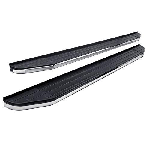 (Steelcraft 134300 STX100 Series Running Boards Black/Stainless Trim STX100 Series Running Boards)