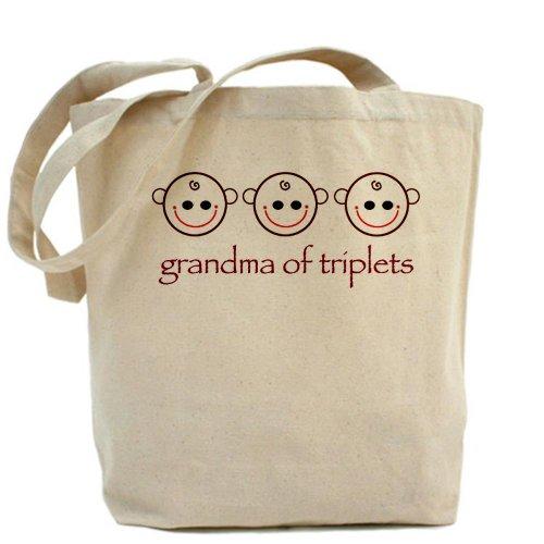 CafePress gamuza de–la abuela de trillizos–lona bolso, bolsa de la compra
