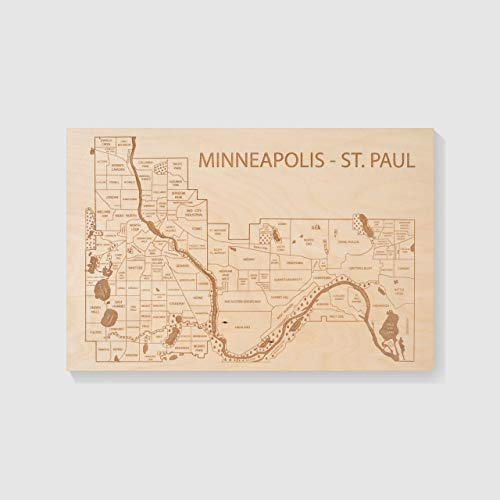 Etched Atlas Twin Cities, Minnesota- Wall Map (12