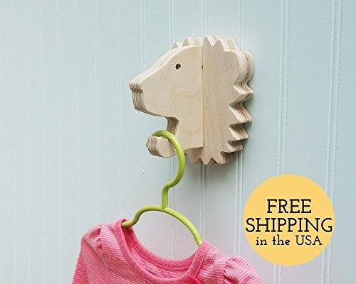 Lion wall hook crafted from birch plywood