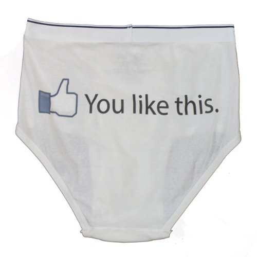 YOU LIKE THIS Whitey Tighty Novelty Underwear / Funny Gag Briefs