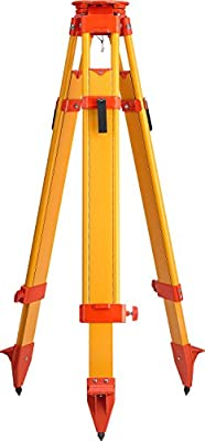CST/Berger 60-WDF20MX-O Wood/Fiberglass Heavy Duty Max Dual Clamp Tripod, Orange