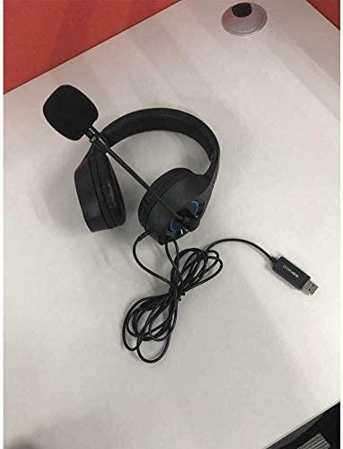 RENKUNDE ブラックヘッドマウントゲームヘッドセットは、快適で通気性着用するヘッドセットのコンピュータのヘッドセットとUSBケーブルを調整することができます ゲーミングヘッドセット