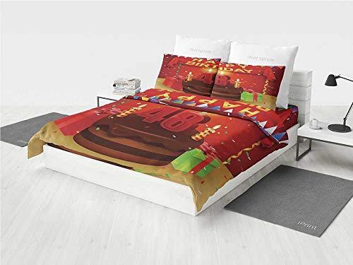 48th Birthday Decorations 3D Lion Bedding Set Presents Choco