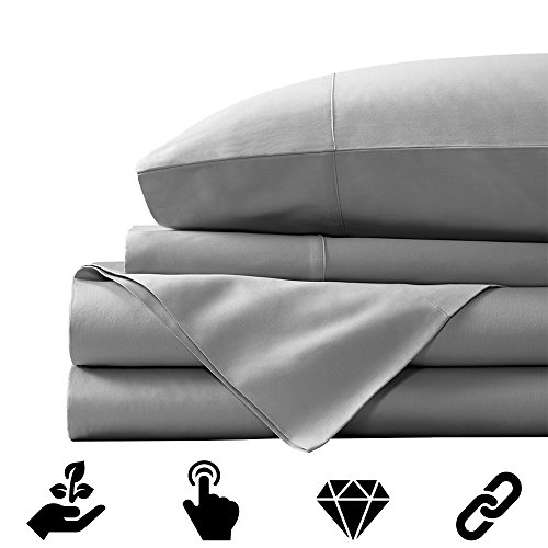 Alfred Sung 300 Thread Count 100% Pima Cotton Sheet Set, Pure White Queen  Sheets 4 Piece Set Bedding Collection, Long Staple Combed Pure Natural  Cotton ...