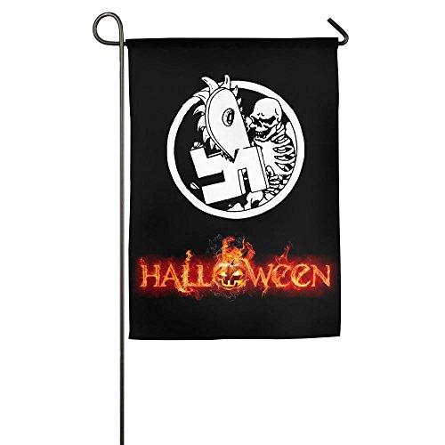Anti Nazi Skeleton Funny Printed Garden Flag For Halloween