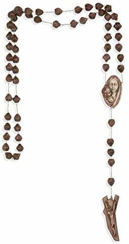 Large Catholic Wall Rosary with Resin Beads (Mahogany) Mahogany Village
