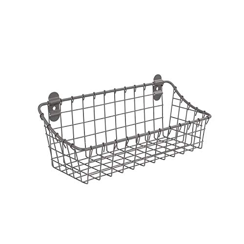 (Spectrum Diversified Small Vintage Cabinet & Wall Mount Basket, Industrial Gray)