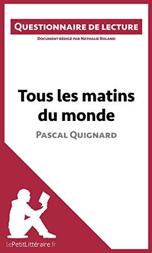 Amazon Com Tous Les Matins Du Monde De Pascal Quignard