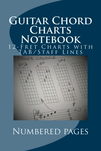 Guitar Chord Charts Notebook: Blank 12-Fret Charts With TAB/Staff Lines (G-Rea-T Little Books)
