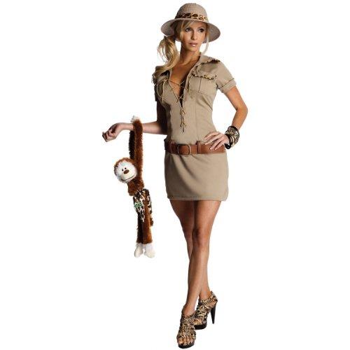 Secret Wishes Womens Tarzan Hunter Jane Costume, Khaki, -