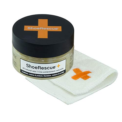 ShoeRescue All-Natural Leather Wax Kit with Cloth to Condition, Restore, Protect Leather Shoes, Boots, Bags - 3.53oz from Boot Rescue