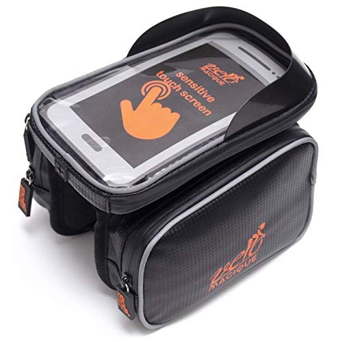 VeloMagique Bike Frame Bag Touch Touch Screen Phone Case   Waterproof Bag   Mobile Cell Phone Bag Top Tube Bag for 6.5