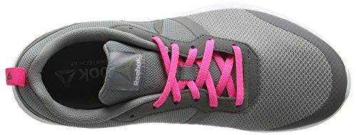 Medium Reebok Grey Foster Mujer White Entrenamiento Pink de para Flat Pewte Grey Gris Poison Flyer Zapatillas vPaWrnv