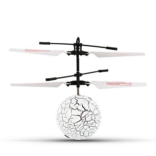 Hobbylane フライングボール ledヘリボール RCおもちゃ RCフライングボール RC赤外線誘導ヘリコプター ボール プレゼント キッズおもちゃ LED照明を内蔵 リモコン付き