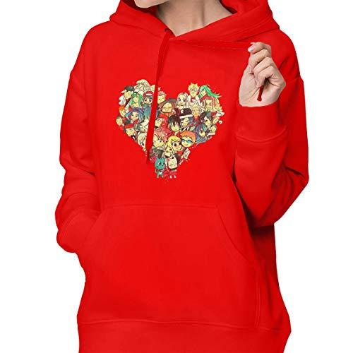 AIDEAR Fairy Tail Women Women's Sweater Long Sleeve Cute Hoodie Sportswear Red (Poster Jaa Tony)