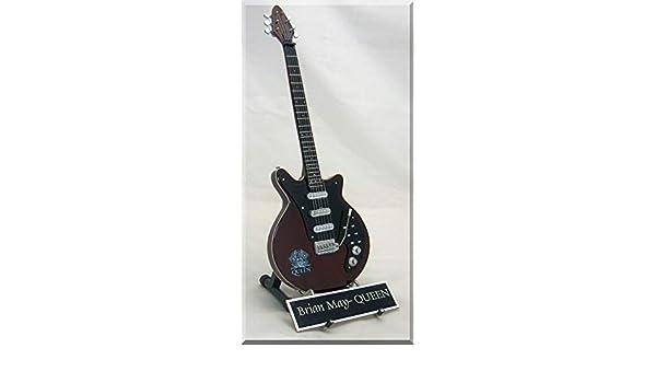 Brian May Guitarra en miniatura Queen con nombre: Amazon.es ...