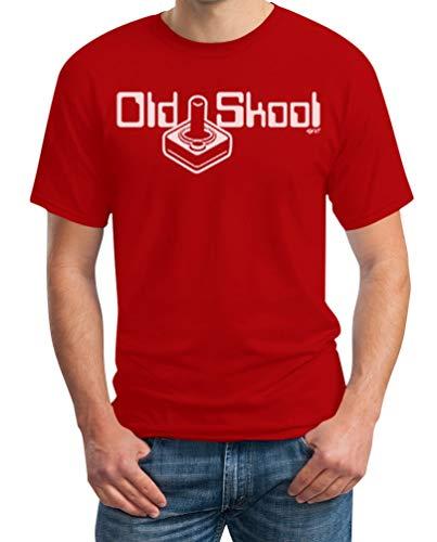 Fans Videogame Uomo Shirtgeil School Dei Maglietta Da Old Rosso Per tFX7q