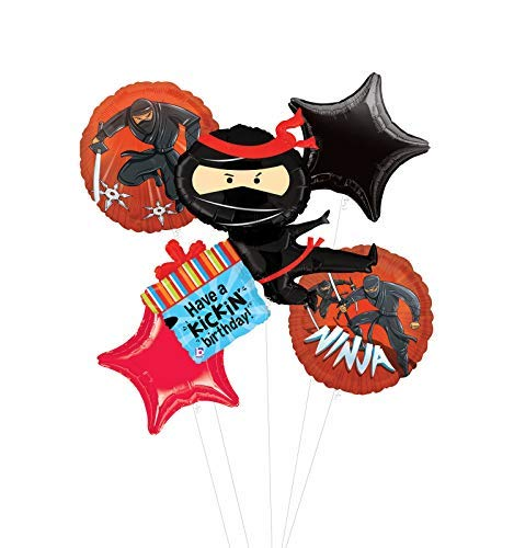 Mayflower Products Ninja Birthday Party Supplies Have A Happy Kickin Birthday Balloon Bouquet Decorations ()