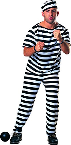 (Rubie's Haunted House Collection Prisoner Man Costume, Black/White, One)