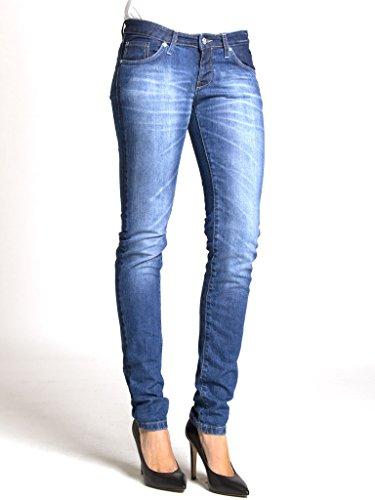 Vestibilità Vita Denim Modello Carrera Per Tessuto Skinny Bassa Look 777 Dritto Jeans Elasticizzato Donna 4xqva7