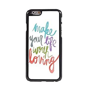SOL Make Life Worth Living Pattern Aluminum Hard Case for iPhone 6