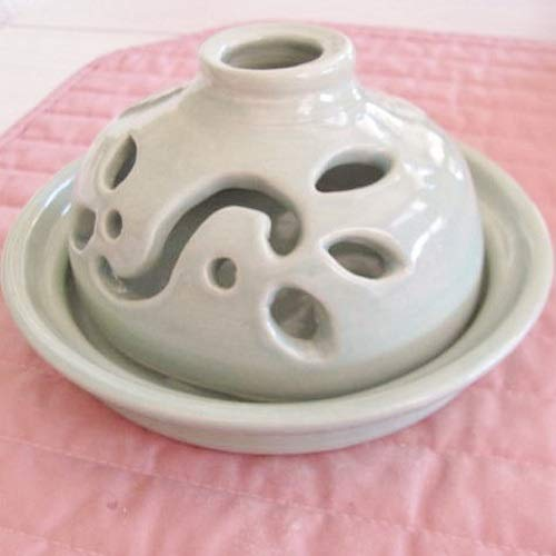 Candle Holder Luminary Handmade Pottery Ceramic Two Piece Votive Candle Container