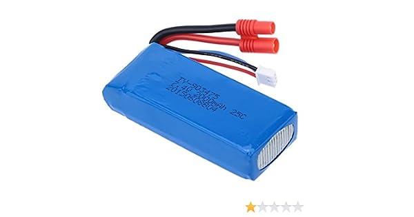 Outletdelocio Bateria Lipo 7,4V. 2000Mah. para Drone Syma X8 X8C ...