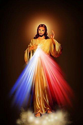 Amazon.com: Tomorrow sunny 24X36 INCH / Divine Mercy Image Love ...